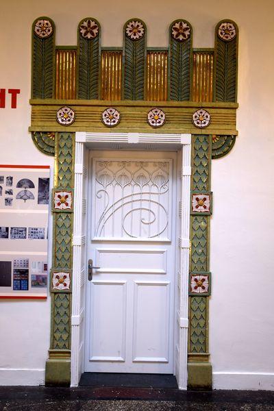porte typée art nouveau école des arts décoratifs de strasbourg
