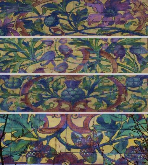 assemblage 2 motifs végétaux en céramique strasbourg