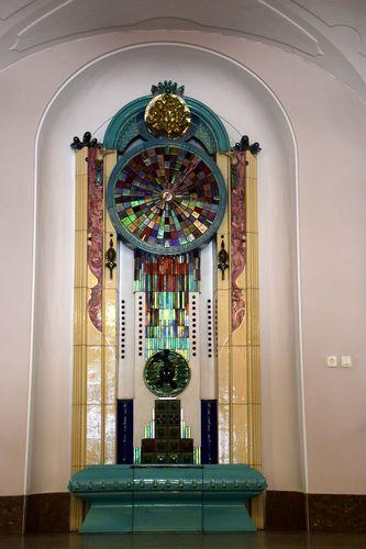 horloge céramique zsolnay mairie Pécs