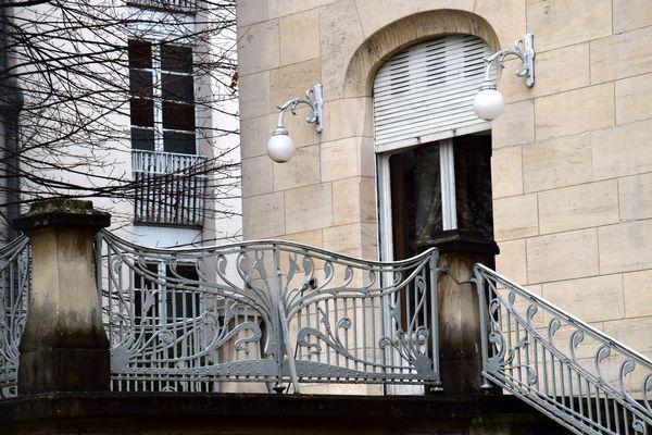 arums art nouveau pour les garde-corps villa schutzenberger