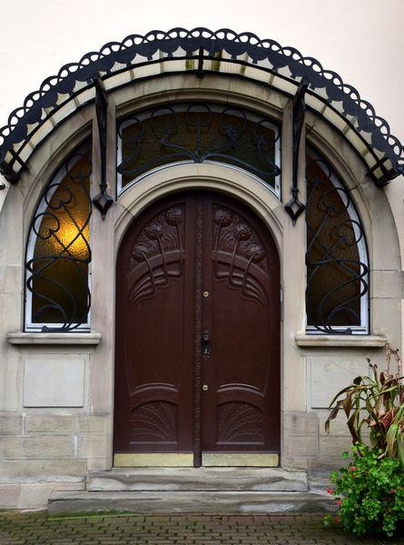 porte d'entrée art nouveau art déco 4 rue erkmann-chatrian strasbourg