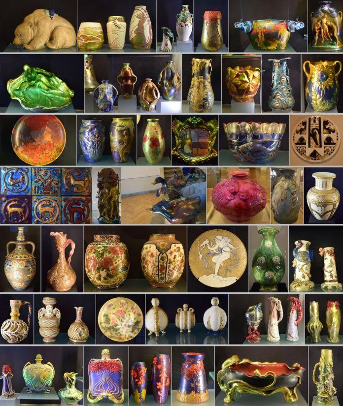 choix zsolnay différent musées zsolnay pecs