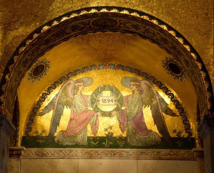 détail mosaïque mausolée Kossuth Lajos Budapest