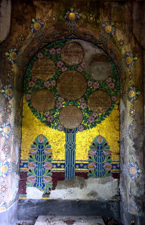 intérieur caveau cimetière juif budapest