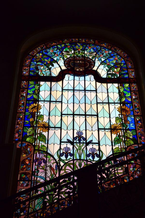 vitrail cage escalier villa korossy budapest