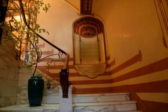 début cage d'escalier musée Horta Bruxelles