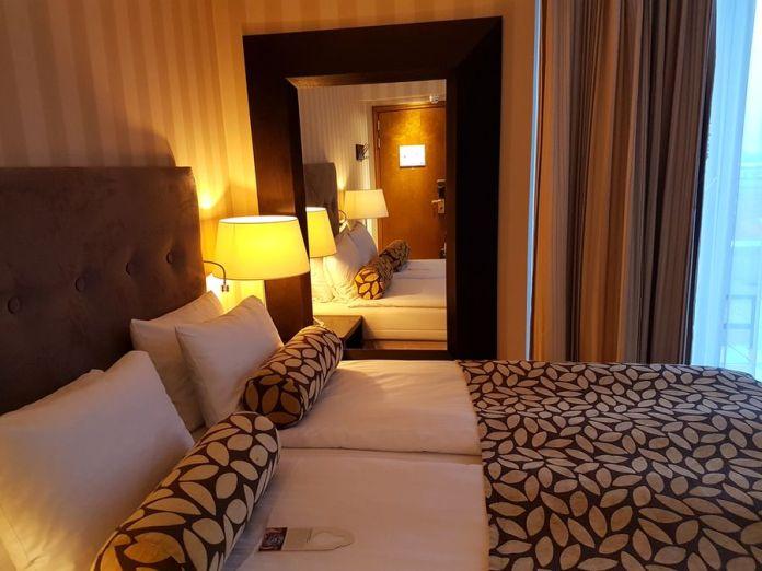 ma chambre à l'hôtel Thon à Bruxelles