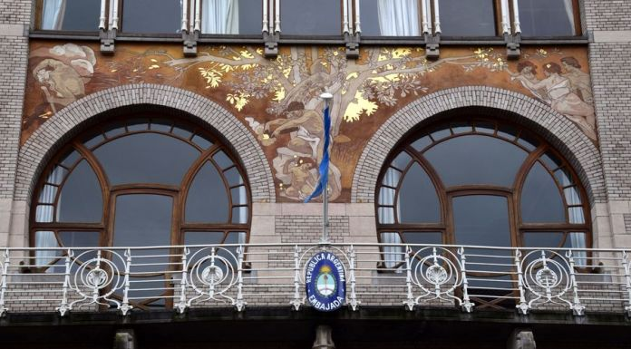 sgraffite hôtel Ciamberlani Bruxelles
