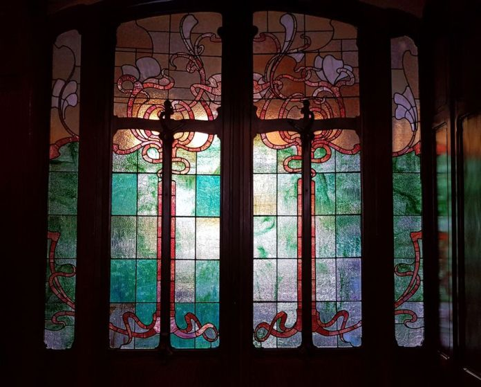 portes en vitraux hôtel Van Eetvelde