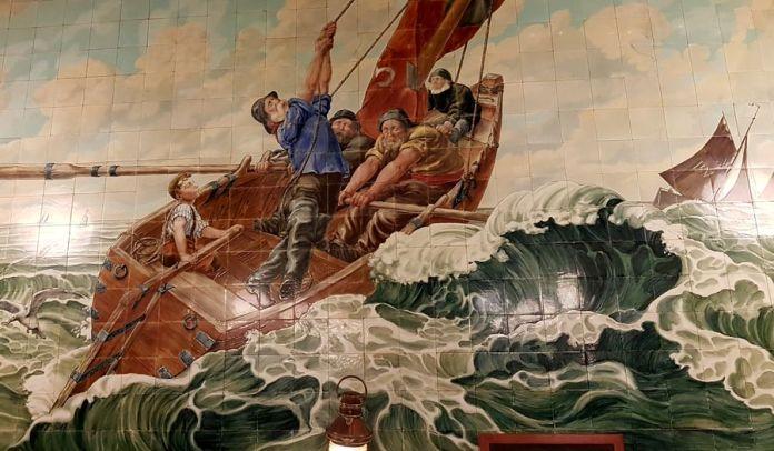 bateau dans la tempête restaurant Vincent à Bruxelles