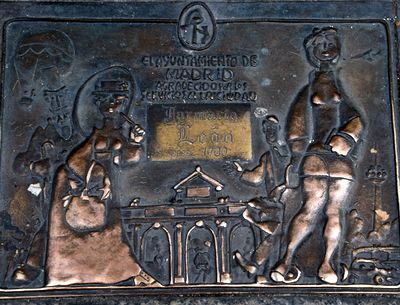 plaque farmacia del leon 1700