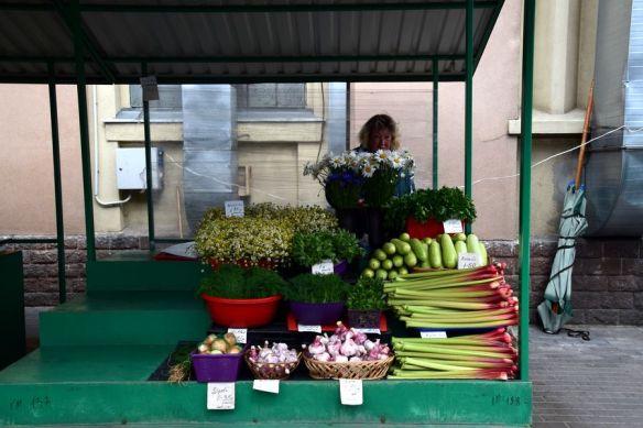 légumes grand marché de Riga