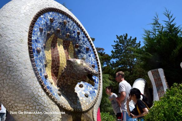 fontaine en trencadis Park Güell
