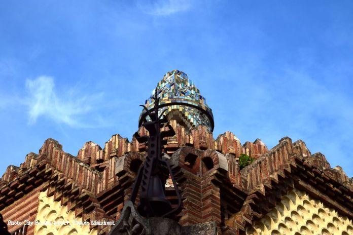 toit de la maison du gardien Pavillons Güell