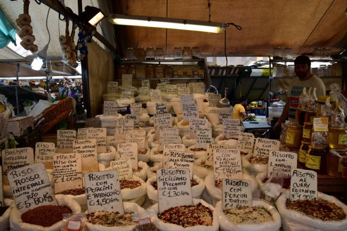 Padoue, Padova, Italie, Italy, marché, risotto