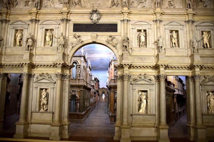 Vicence, Vicenza, Italie, Italy, TeatroOlimpico, trompeloeil