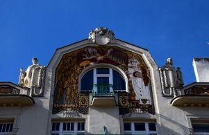 Prague, fronton, artnouveau