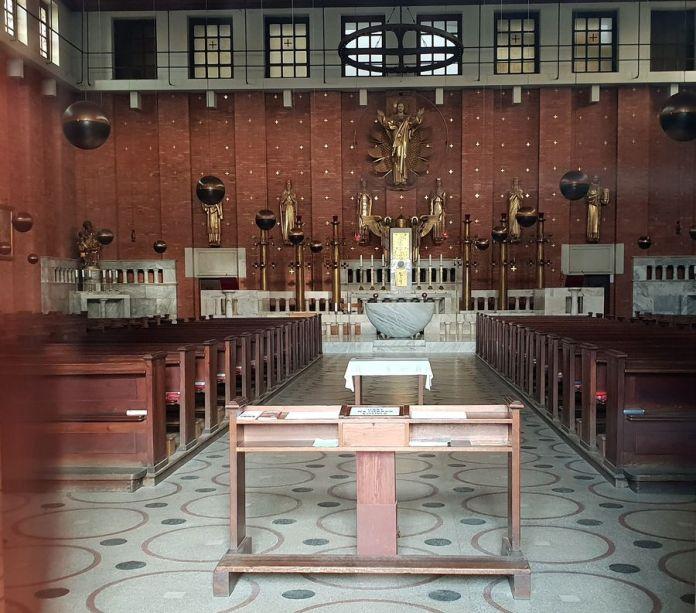 Prague, église, intérieur, SacréCoeurdeJésus