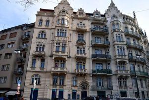 Prague, Masaryk, ArtNouveau, tourelles
