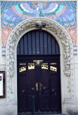 Prague, oiseau, mosaïques, ArtNouveau, Masaryk