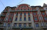 Prague, rouge, relief, ArtNouveau, Masaryk
