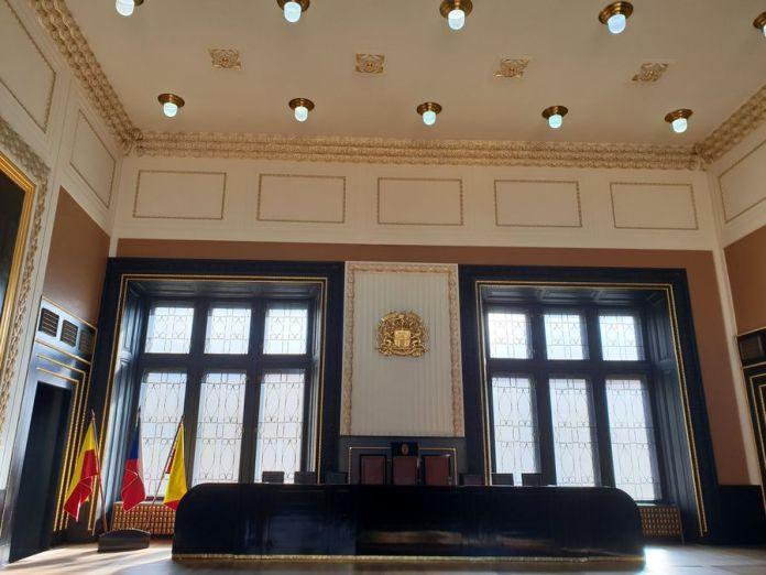 Prague, salle de réunion, ancien hôtel de ville