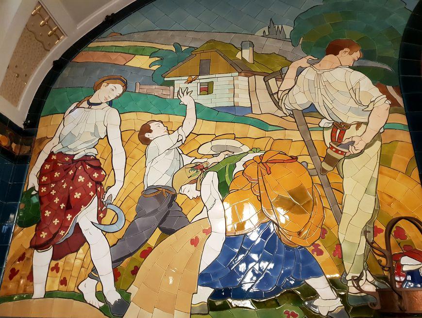 Prague, tableau, céramique, ArtNouveau, MaisonMunicipale