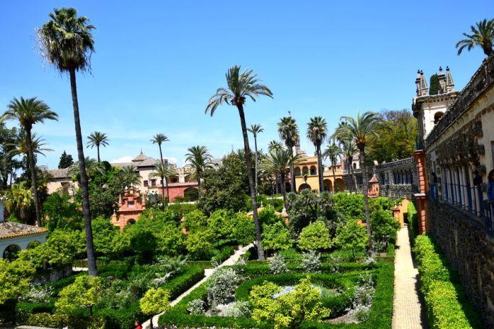 Séville, alcazar, jardins