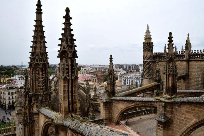 Séville, cathédrale, tourelles
