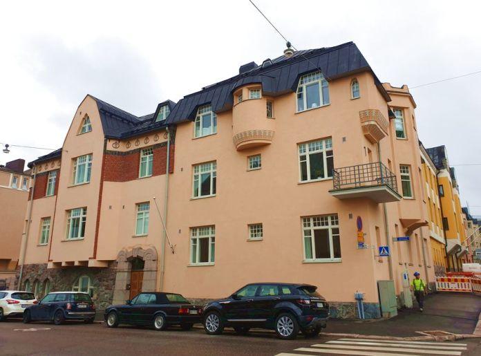 maison art nouveau quartier Eira Helsinki