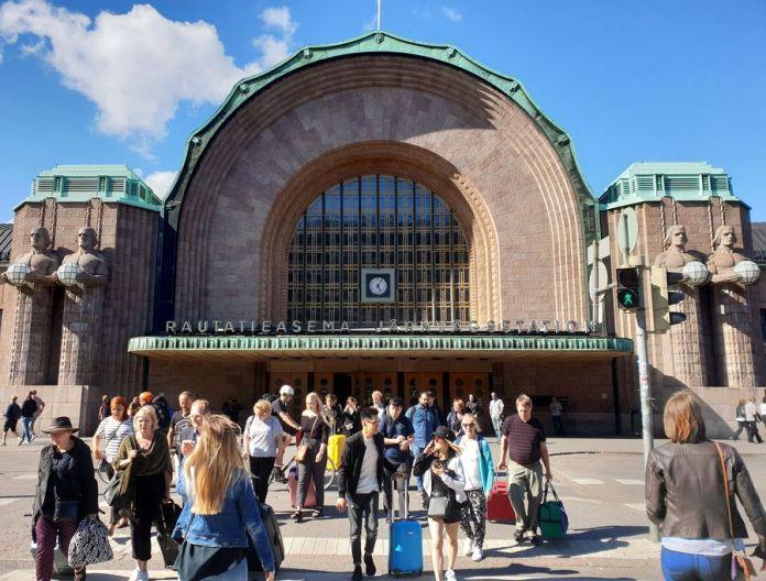 Entrée de la gare d'Helsinki