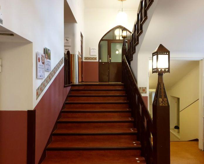 escalier hôpital Eira Helsinki