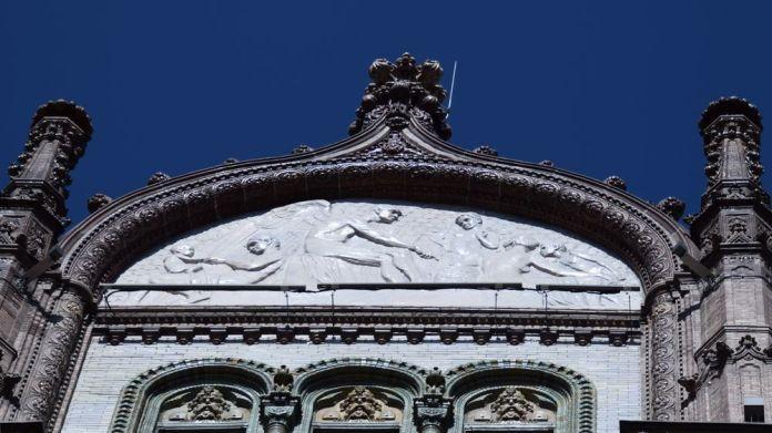 bas relief Parisi Udvar Budapest Hungary