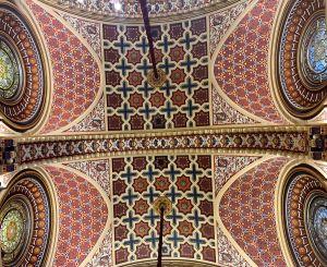 caissons plafond salon maure Mairie de Bilbao
