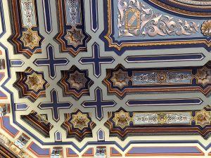 détail décors salon maure mairie de Bilbao